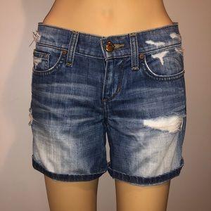 Joe's jeans distressed boyfriend jean shorts 24